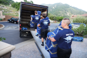 Meathead Movers loading moving truck