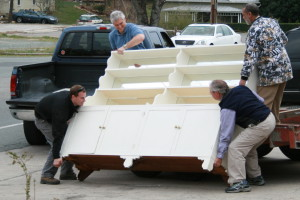 Men moving a dresser